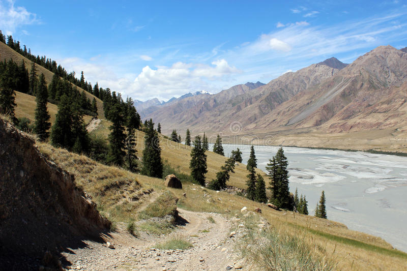 Kyrgyzstan - Central Tien Shan region. Tien Shan, is a large system of mountain ranges located in Central Asia stock photography