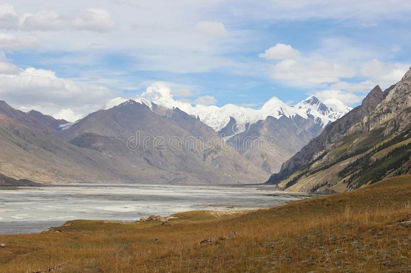 Kyrgyzstan - Central Tien Shan region. Tien Shan, is a large system of mountain ranges located in Central Asia stock images