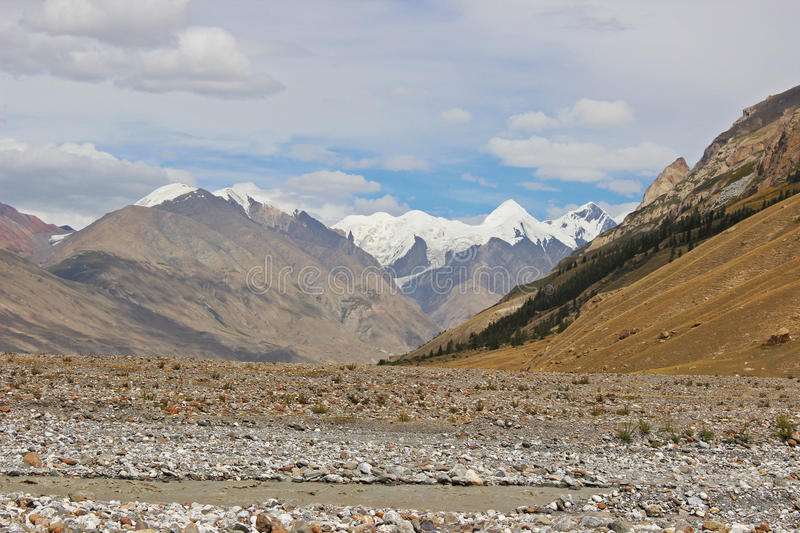 Kyrgyzstan - Central Tien Shan region. Tien Shan, is a large system of mountain ranges located in Central Asia royalty free stock photo