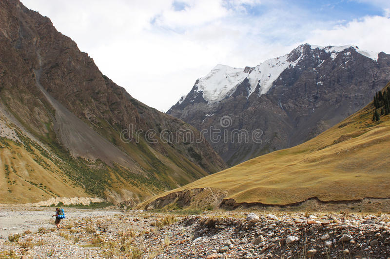 Kyrgyzstan - Central Tien Shan region. Tien Shan, is a large system of mountain ranges located in Central Asia royalty free stock image