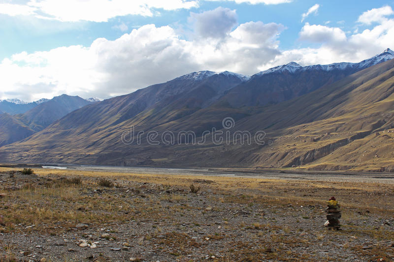 Kyrgyzstan - Central Tien Shan region. Tien Shan, is a large system of mountain ranges located in Central Asia royalty free stock photos