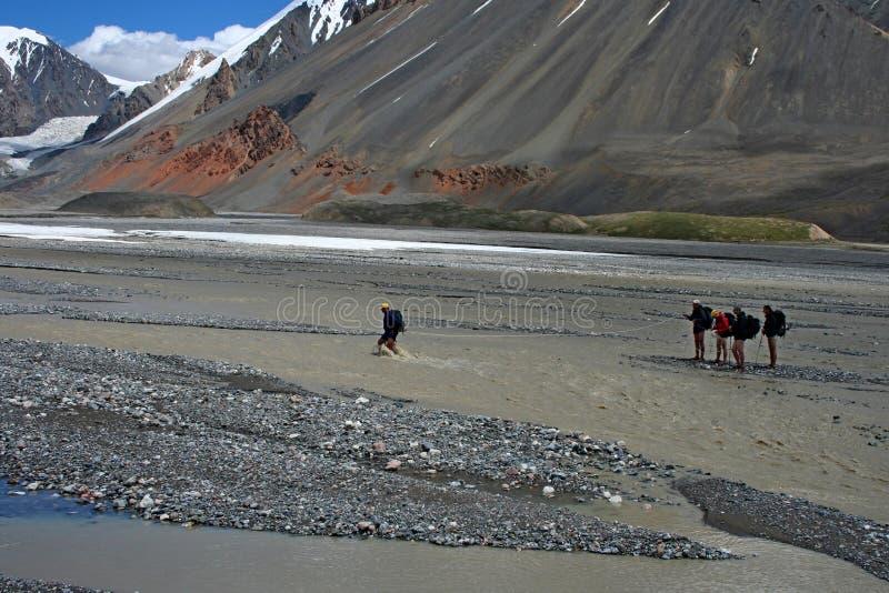 Tien Shan mountains, Kyrgyzstan. Central tien shan, Ak-Shyrak region royalty free stock photography