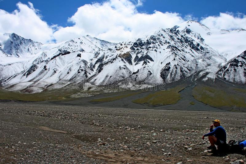 Tien Shan mountains, Kyrgyzstan. Central tien shan, Ak-Shyrak region stock images
