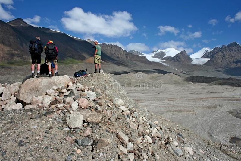 Tien Shan mountains, Kyrgyzstan. Central tien shan region, Ak-Shirak royalty free stock image