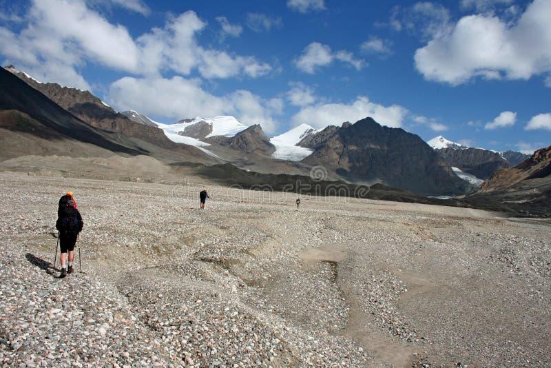 Tien Shan mountains, Kyrgyzstan. Central tien shan region, Ak-Shirak stock photo