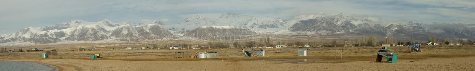 Tien Shan Mountains Panorama royalty free stock images