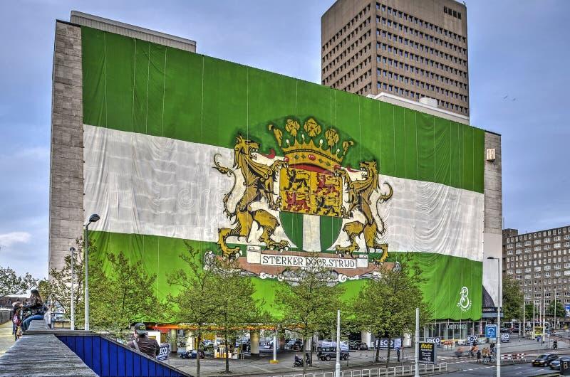 Tien verhaal hoge vlag royalty-vrije stock foto