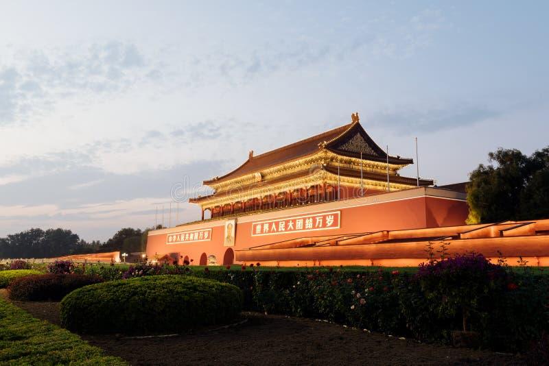 Tienanmenpoort van Hemelse Vrede in Peking, China royalty-vrije stock foto's