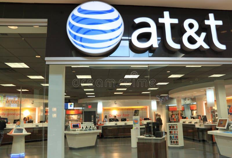 Tienda al por menor de AT&T imagen de archivo libre de regalías