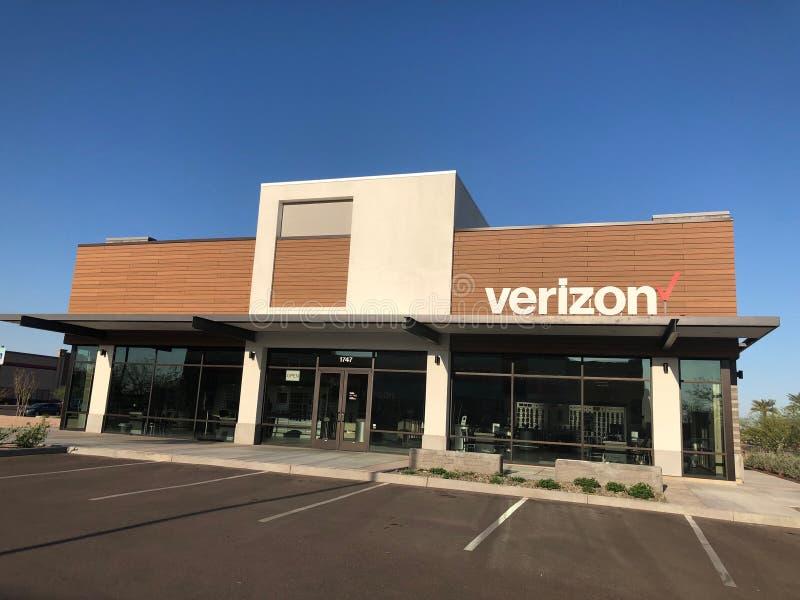 Tienda al por menor de Verizon Wireless imagen de archivo libre de regalías