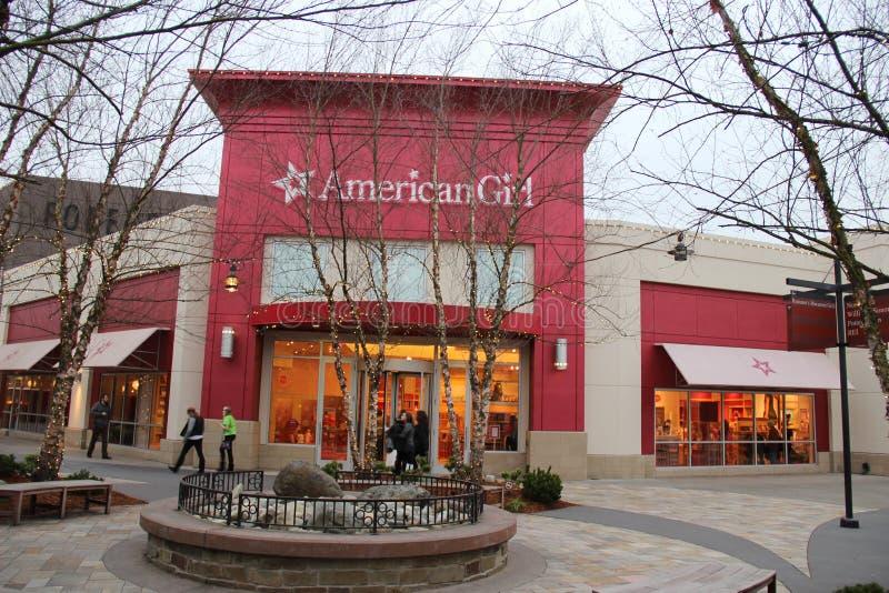 Tienda americana de la muchacha imagen de archivo