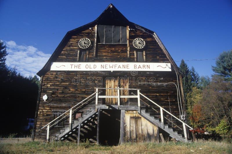 Tienda antigua del granero, Newfane, VT foto de archivo libre de regalías