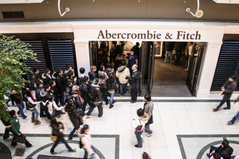 Tienda de Abercrombie Fitch imagen de archivo