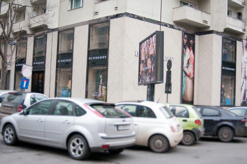 Tienda de Burberry imagenes de archivo
