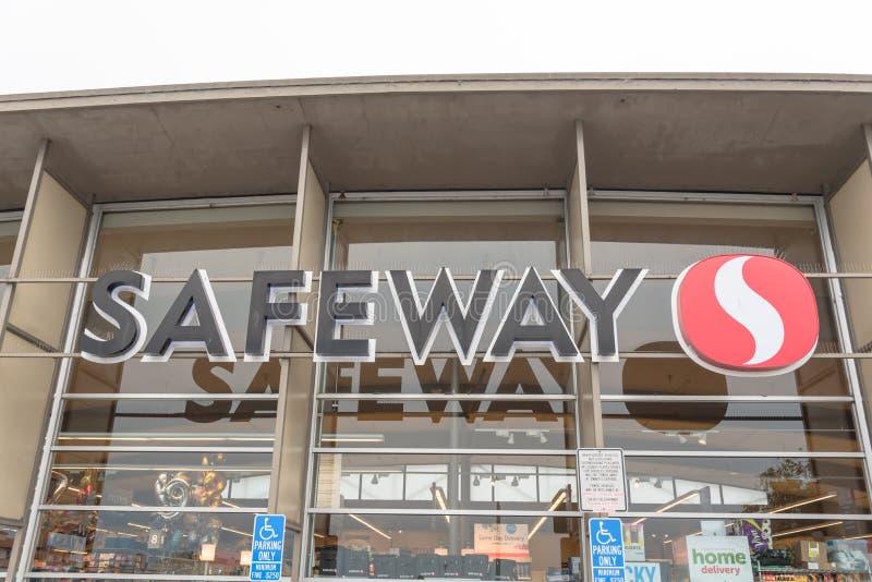 Tienda de cadena de supermercados de Safeway en la playa del norte, San Francisco, C fotografía de archivo libre de regalías