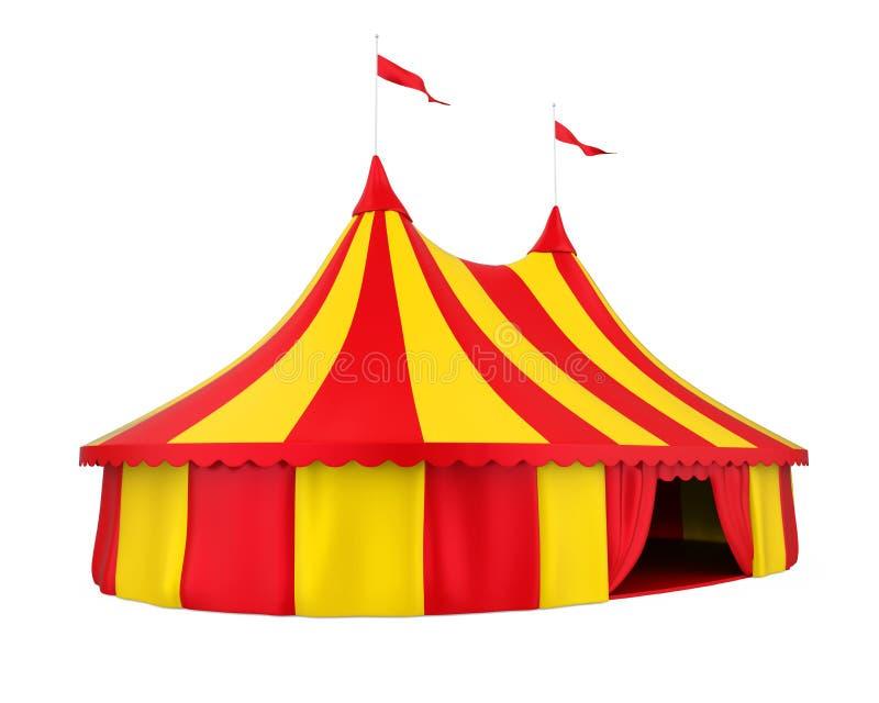 Tienda de circo aislada libre illustration