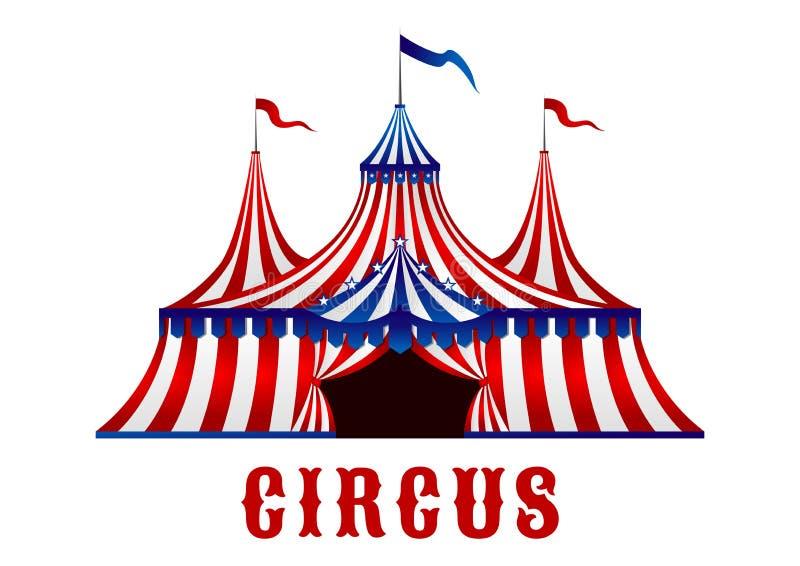 Tienda de circo del vintage con las banderas y las estrellas libre illustration