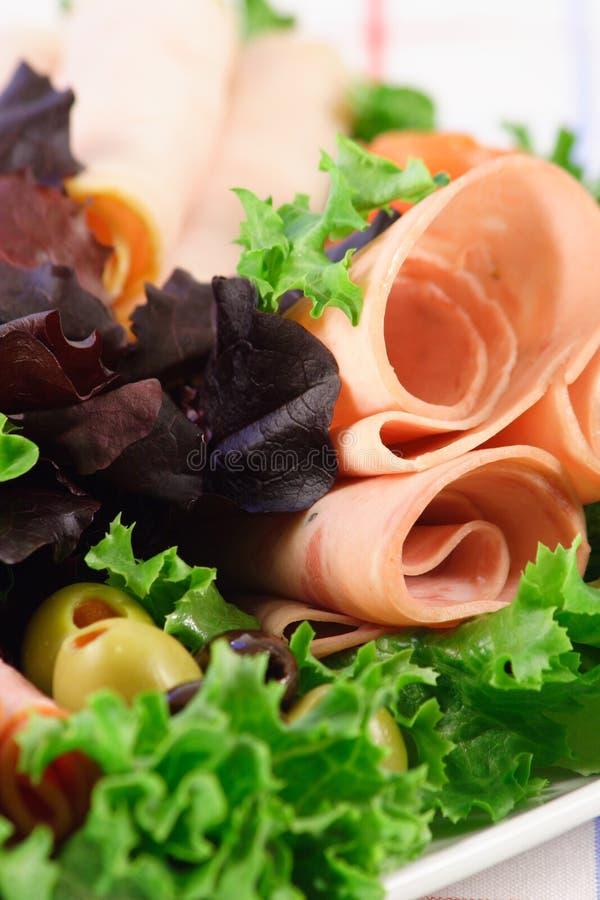 Tienda de delicatessen fresca carne y veggies foto de archivo