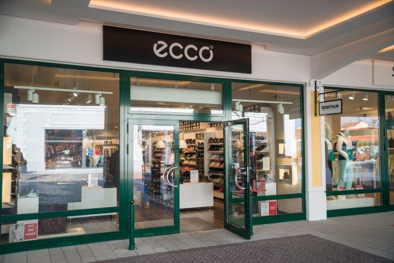 Tienda de Ecco en Parndorf, Austria fotos de archivo libres de regalías