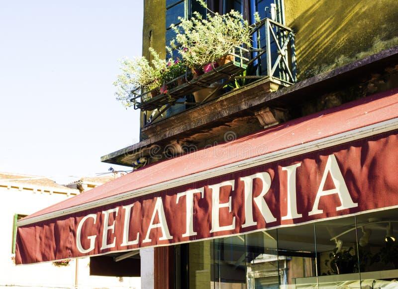 Tienda de helado italiana foto de archivo