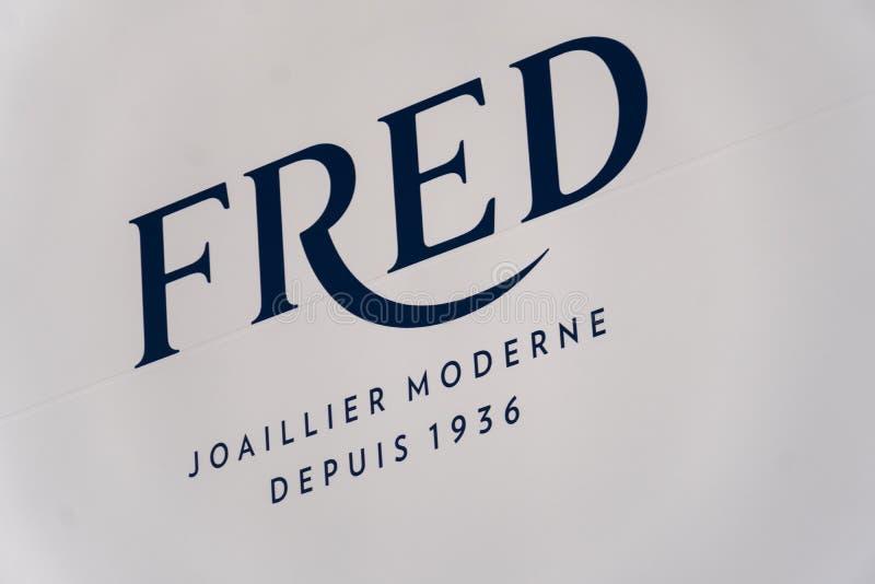 Tienda de joyería de Fred Paris Joaillier imagen de archivo libre de regalías