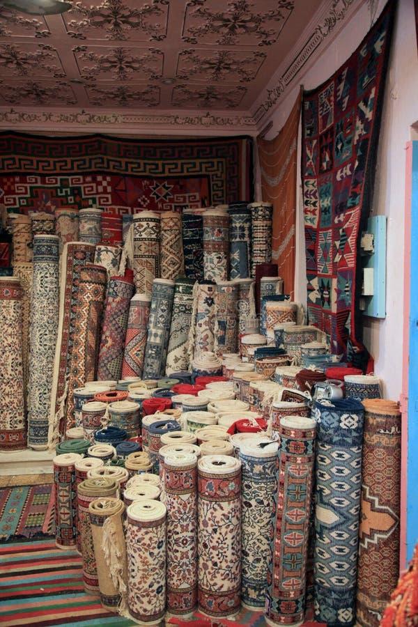 Tienda de la alfombra foto de archivo