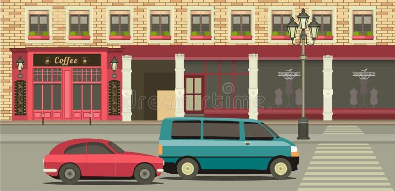 Tienda de la casa urbana libre illustration