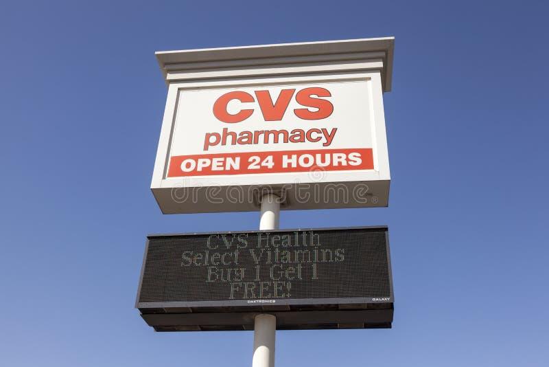 Tienda de la farmacia de CVS fotos de archivo