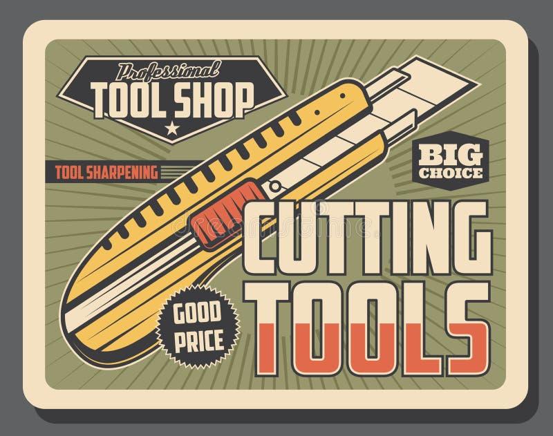 Tienda de la herramienta, cuchillo de los efectos de escritorio Vector ilustración del vector