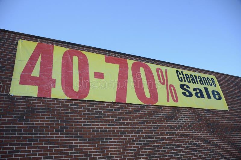 Tienda de la liquidación de la venta imagen de archivo