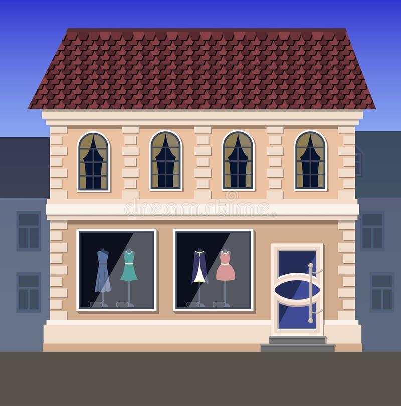 Tienda de la ropa de la élite ilustración del vector