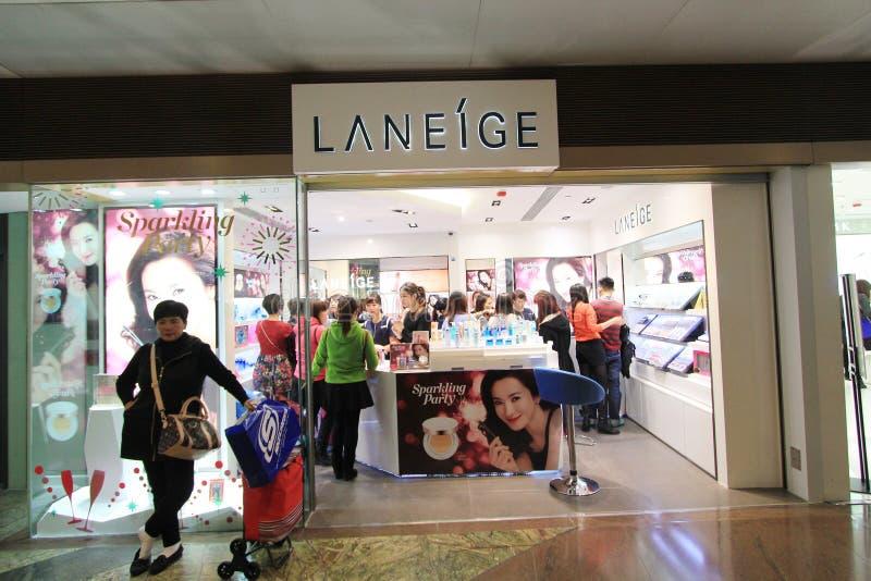 Tienda de Laneige en Hong Kong imagen de archivo libre de regalías