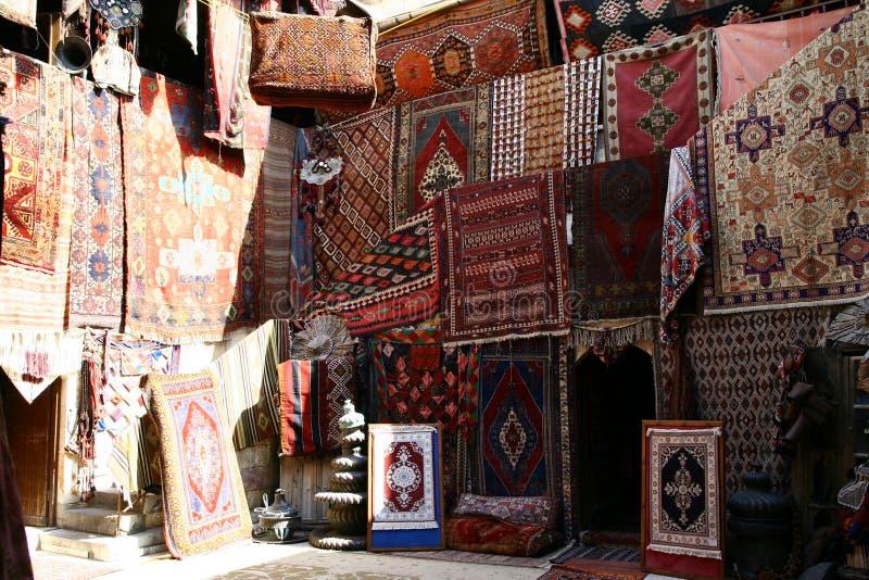 Tienda de las alfombras fotos de archivo