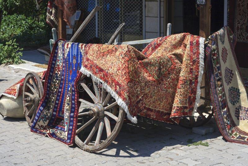 Tienda de las alfombras imagen de archivo