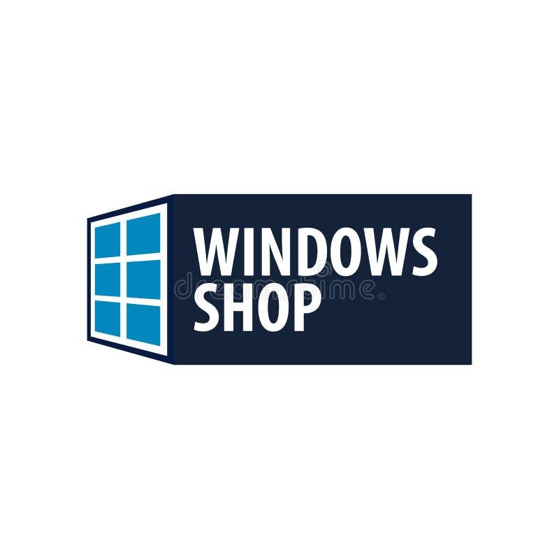 Tienda de Logo Windows Compañía del instalador Ilustración del vector stock de ilustración