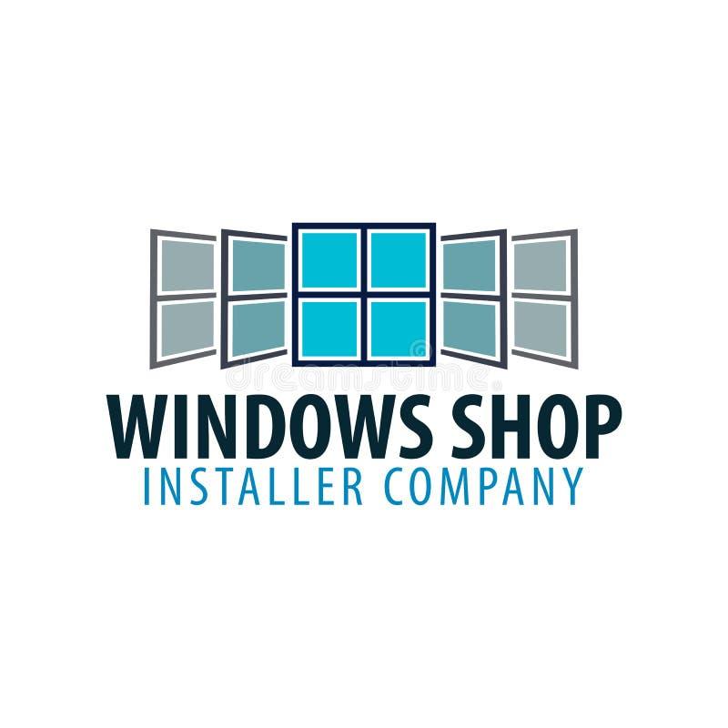 Tienda de Logo Windows Compañía del instalador Ilustración del vector libre illustration