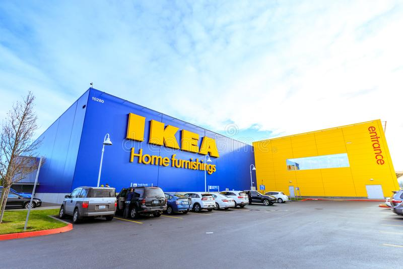 Tienda de los artículos para el hogar de IKEA Localizado en las cascadas Pkwy, Portland, imagen de archivo libre de regalías