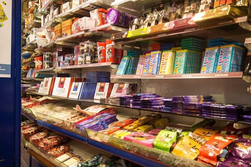 Tienda de los dulces foto de archivo