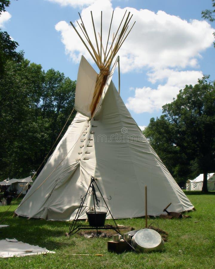 Tienda de los indios norteamericanos foto de archivo