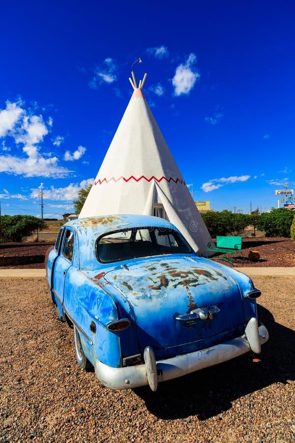 Tienda de los indios norteamericanos del motel de la tienda india fotografía de archivo libre de regalías