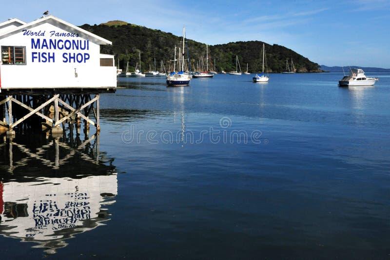 Tienda de los pescado frito con patatas fritas de Mangonui - Nueva Zelanda
