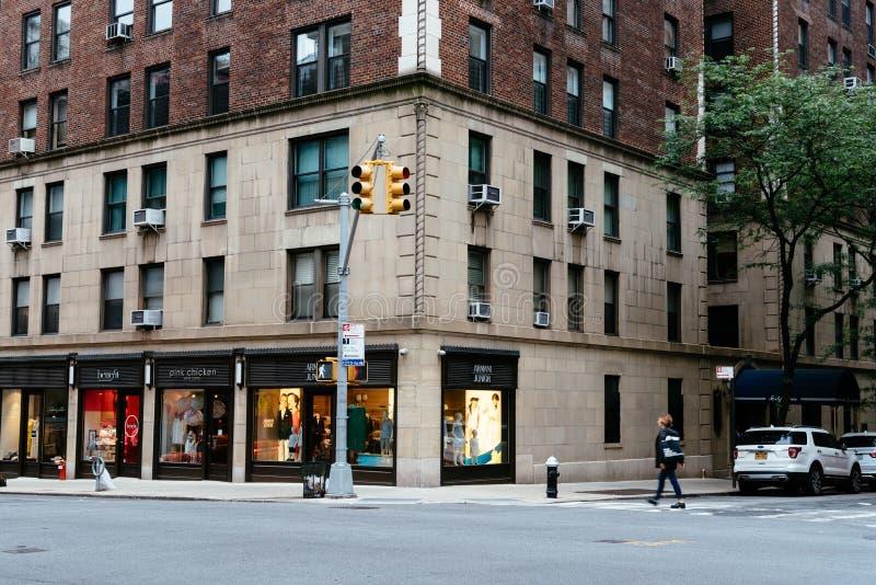 Tienda de lujo en la zona este superior de Manhattan imagen de archivo libre de regalías