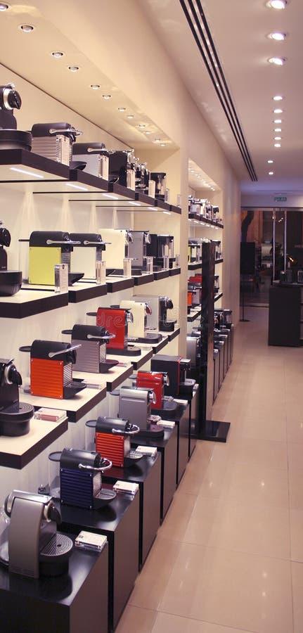 Tienda de máquina del café imagenes de archivo