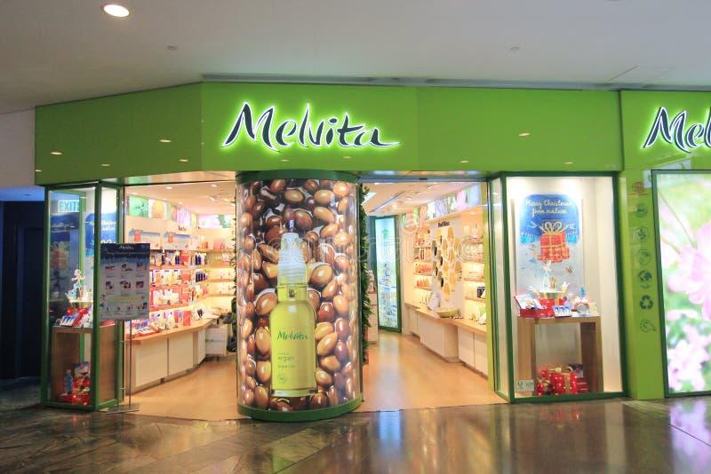 Tienda de Melvita en Hong Kong foto de archivo libre de regalías