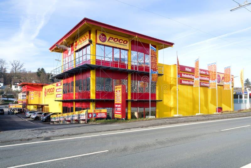 Tienda de muebles de Poco en Kreuztal, Alemania fotografía de archivo libre de regalías