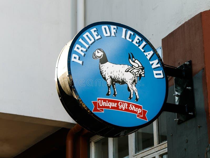 Tienda de regalos islandesa única imágenes de archivo libres de regalías
