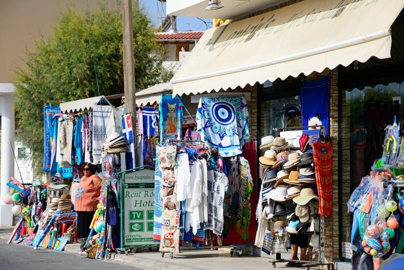 Tienda de regalos turística, Ierapetra fotos de archivo libres de regalías