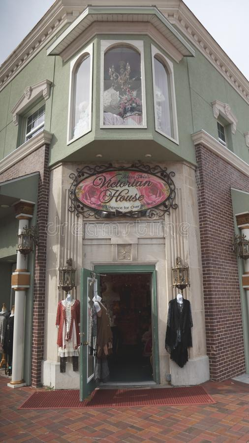 Tienda de ropa al por menor en Branson, MES imagenes de archivo