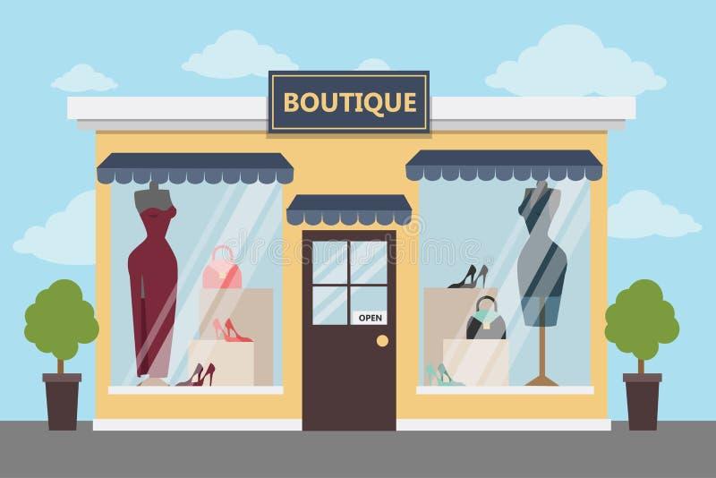Tienda de ropa del boutique ilustración del vector