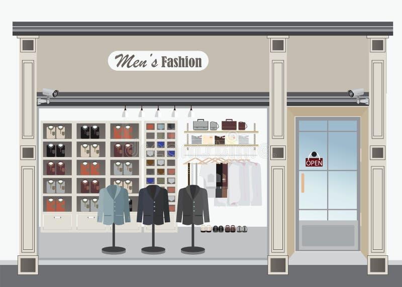 Tienda de ropa para los hombres libre illustration